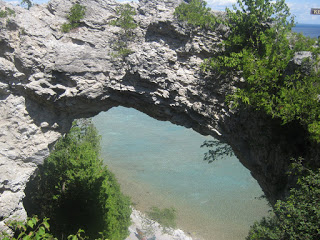 Natural arches are hard to find in the wild. Arch Rock on Mackinac Island.