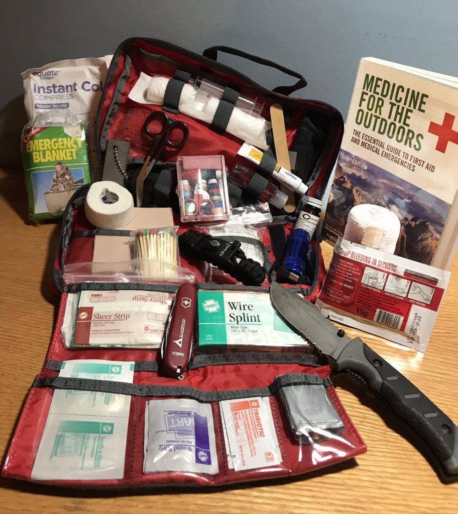 An extensive first aid kit.