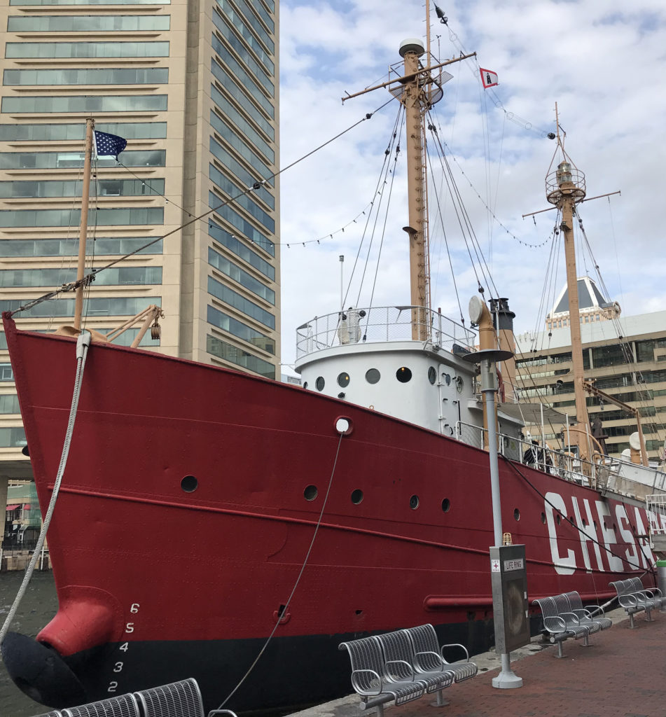 The lightship Chesapeake was literally a light house on the water.