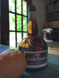 Orange Crush ingredients - an orange and Grand Mariner