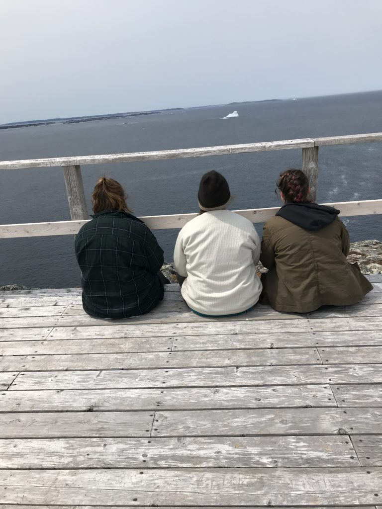 Watching the ice burgs go by in Newfoundland.