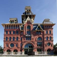 """Wiessner's Brewery front façade. Also called the """"German Pagoda."""""""