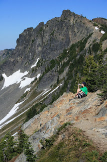 Ridgelines are the best places to take a break and be amazed.