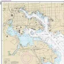 Navigational map of the Inner Harbor.