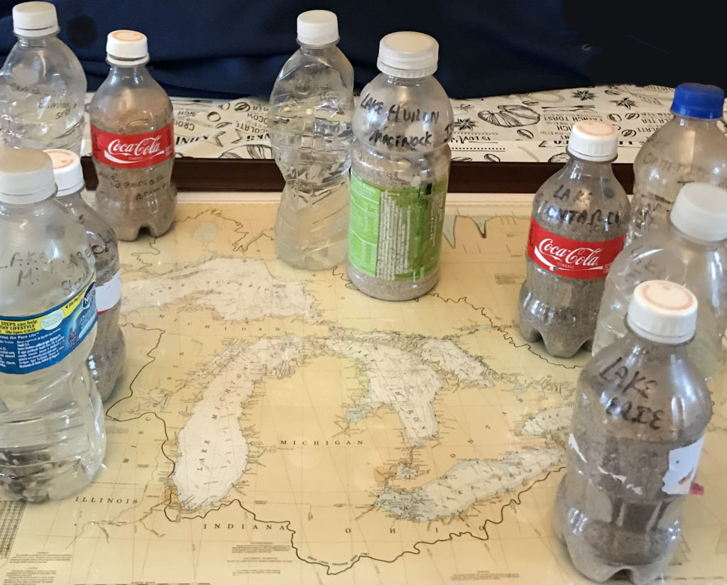 We did it! Water and sand from all 5 Great Lakes.